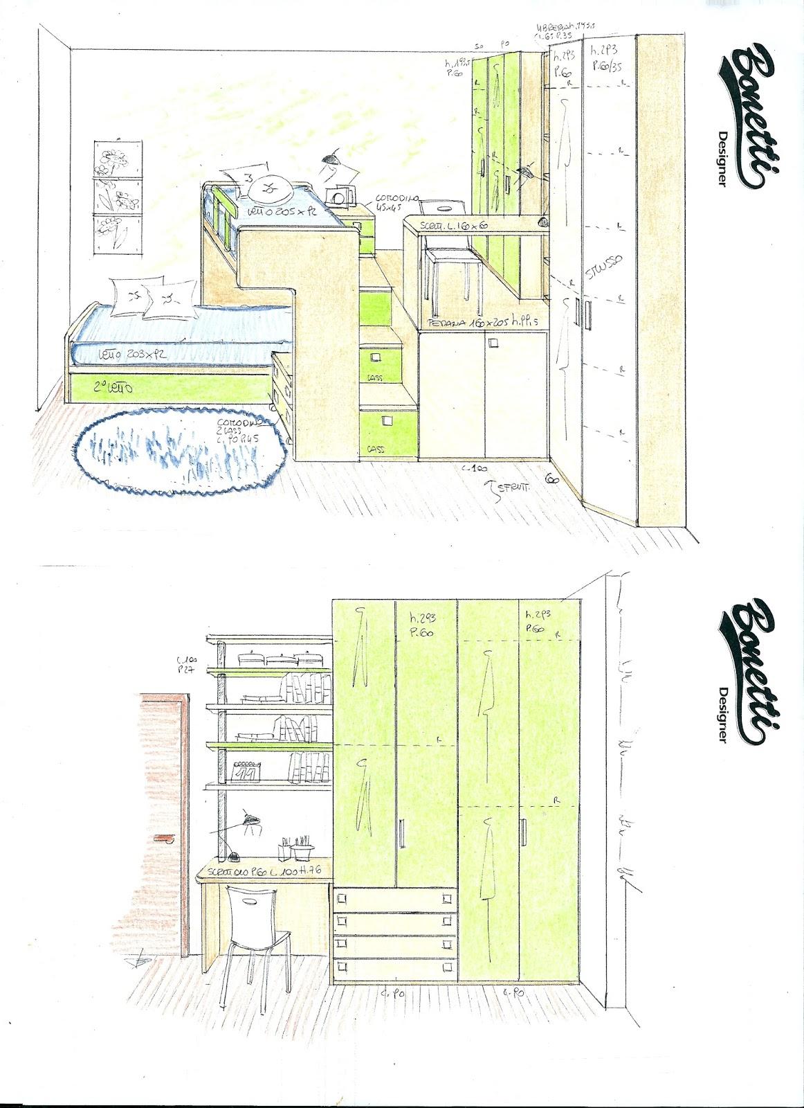 Bonetti camerette bonetti bedrooms progetti camerette piccole - Soluzioni camerette piccole ...