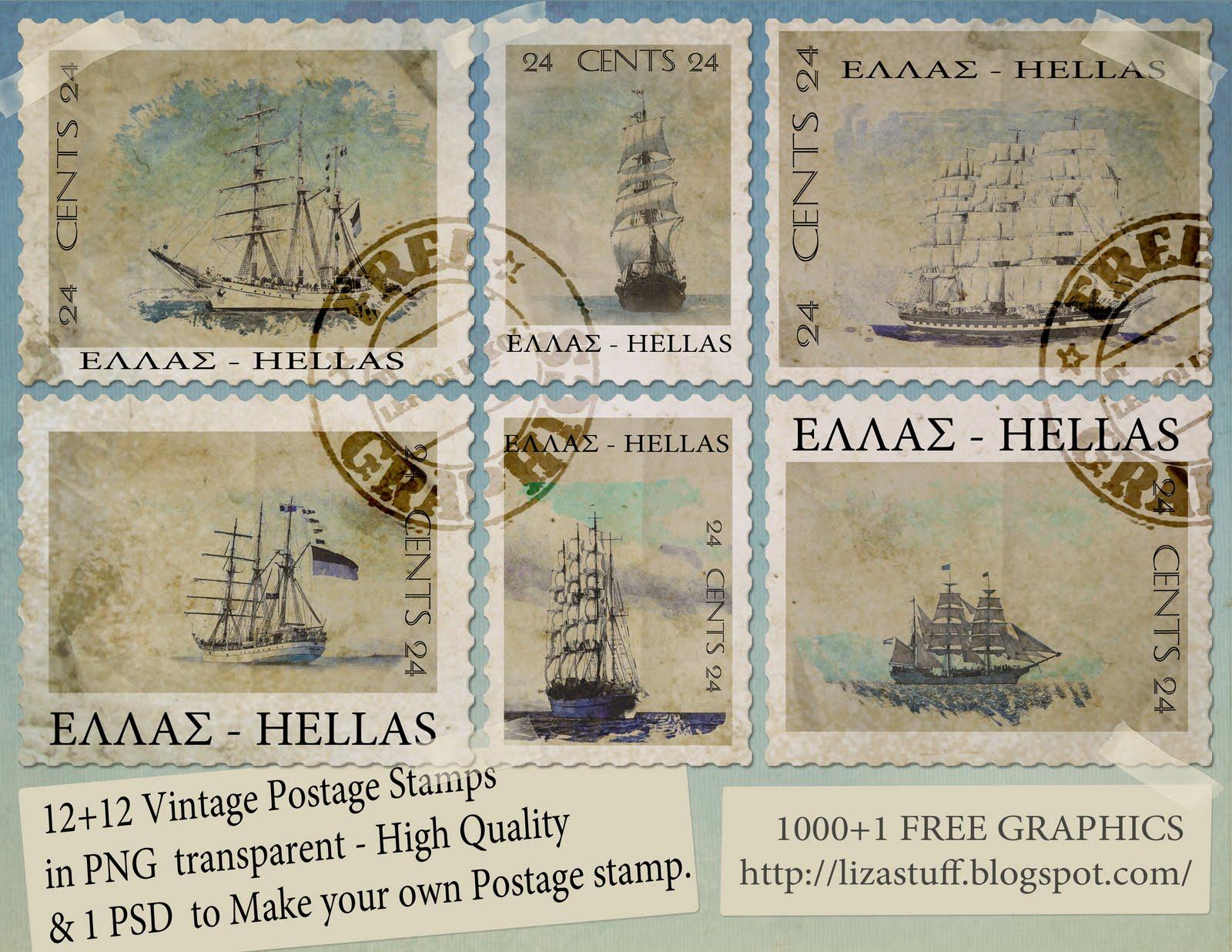 Sky vintage postage stamp woman nice