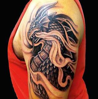 Imagens de Tatuagens de dragão no braço