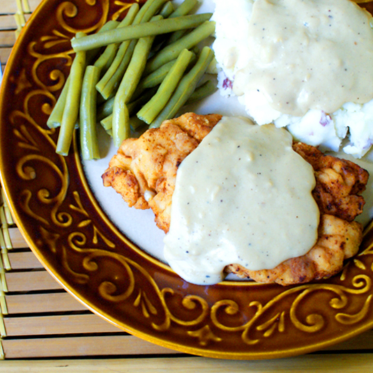Chicken Fried Chicken with Pan Gravy