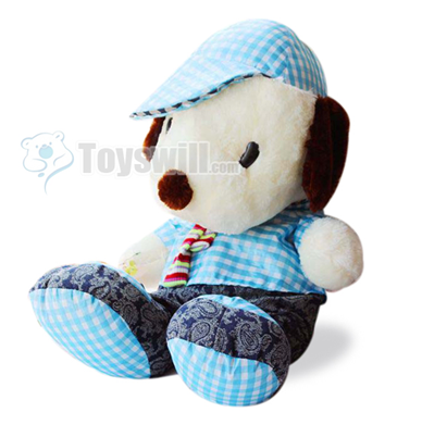 all kinds of toys cute snoopy in blue shirt plush toy 120cm. Black Bedroom Furniture Sets. Home Design Ideas
