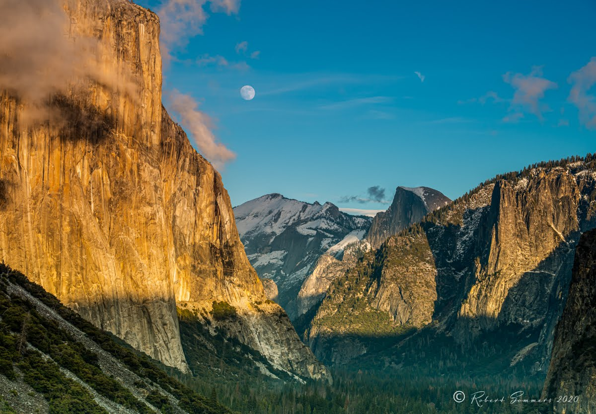 Tunnel view with moon