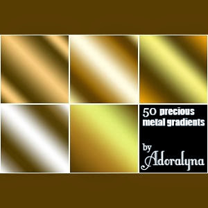 photoshop Metal Gradients