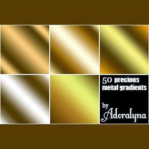 photoshop Metal Gradients