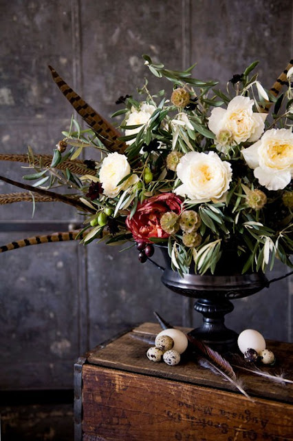 pheasant feather tablescapes