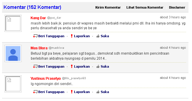 Status Facebook SBY