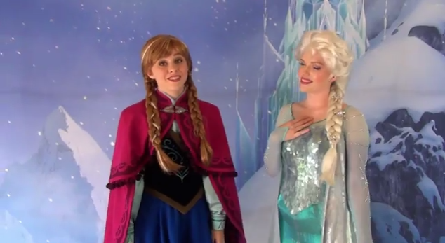 Jedi mouseketeer see disneys frozen characters at epcot at the walt disney world resort you can already meet two stars from the film the royal sisters anna and elsa m4hsunfo