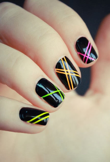 Nail Art rainbow color