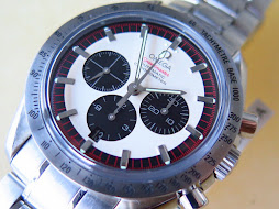 OMEGA SPEEDMASTER CHRONOGRAPH CHRONOMETER WHITE PANDA RACING DIAL - AUTOMATIC- LIMITED EDITION 550