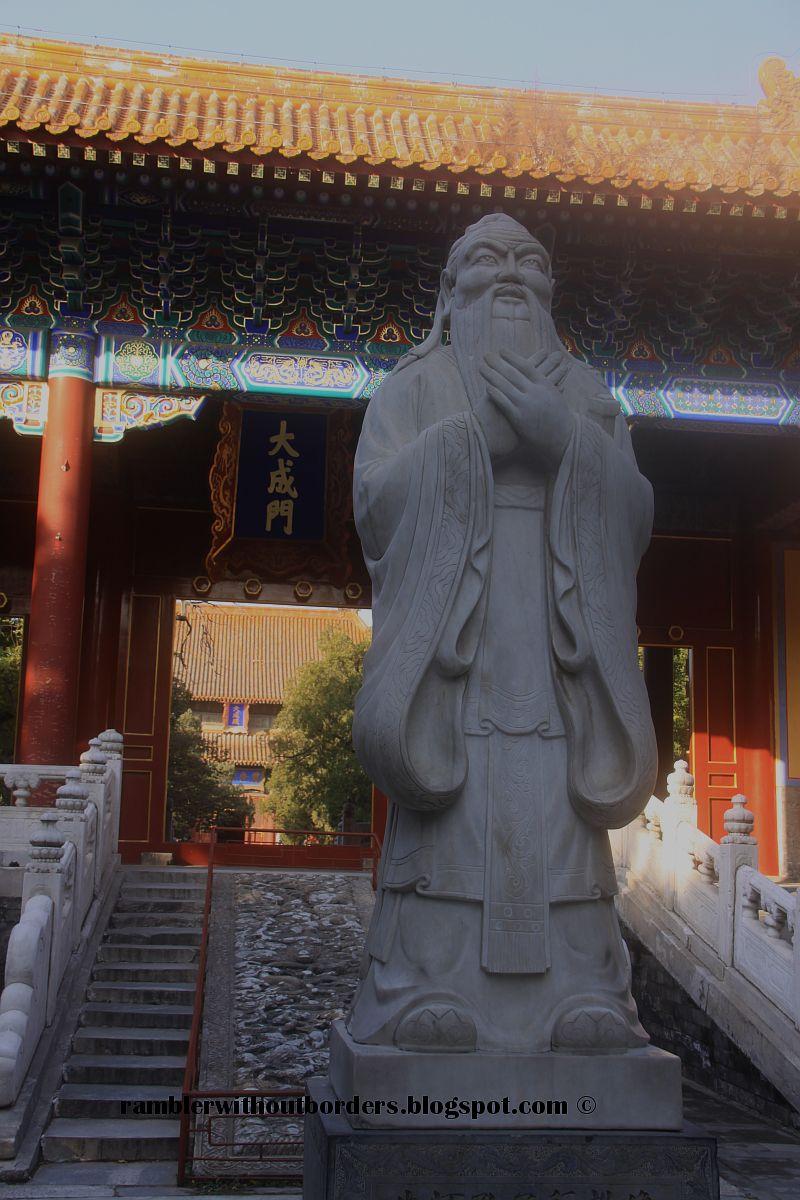 Statue of confucius. Confucius Temple, Beijing, China