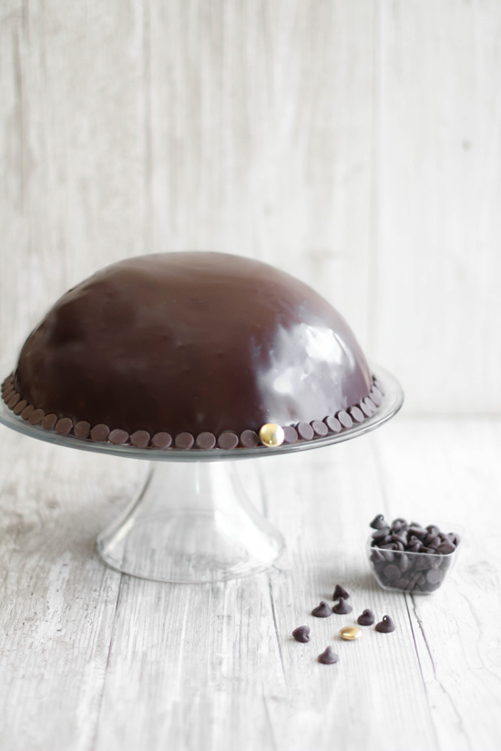 chocolate mousse cookie dough bombe. Black Bedroom Furniture Sets. Home Design Ideas