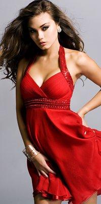 Kurze rote Kleider 2011/2012