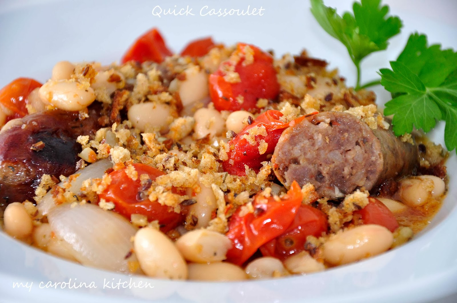... Quick French Cassoulet / Sausages and White Beans Cassoulet-Style