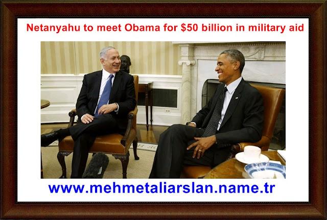 Netanyahu to meet Obama for $50 billion in military aid.