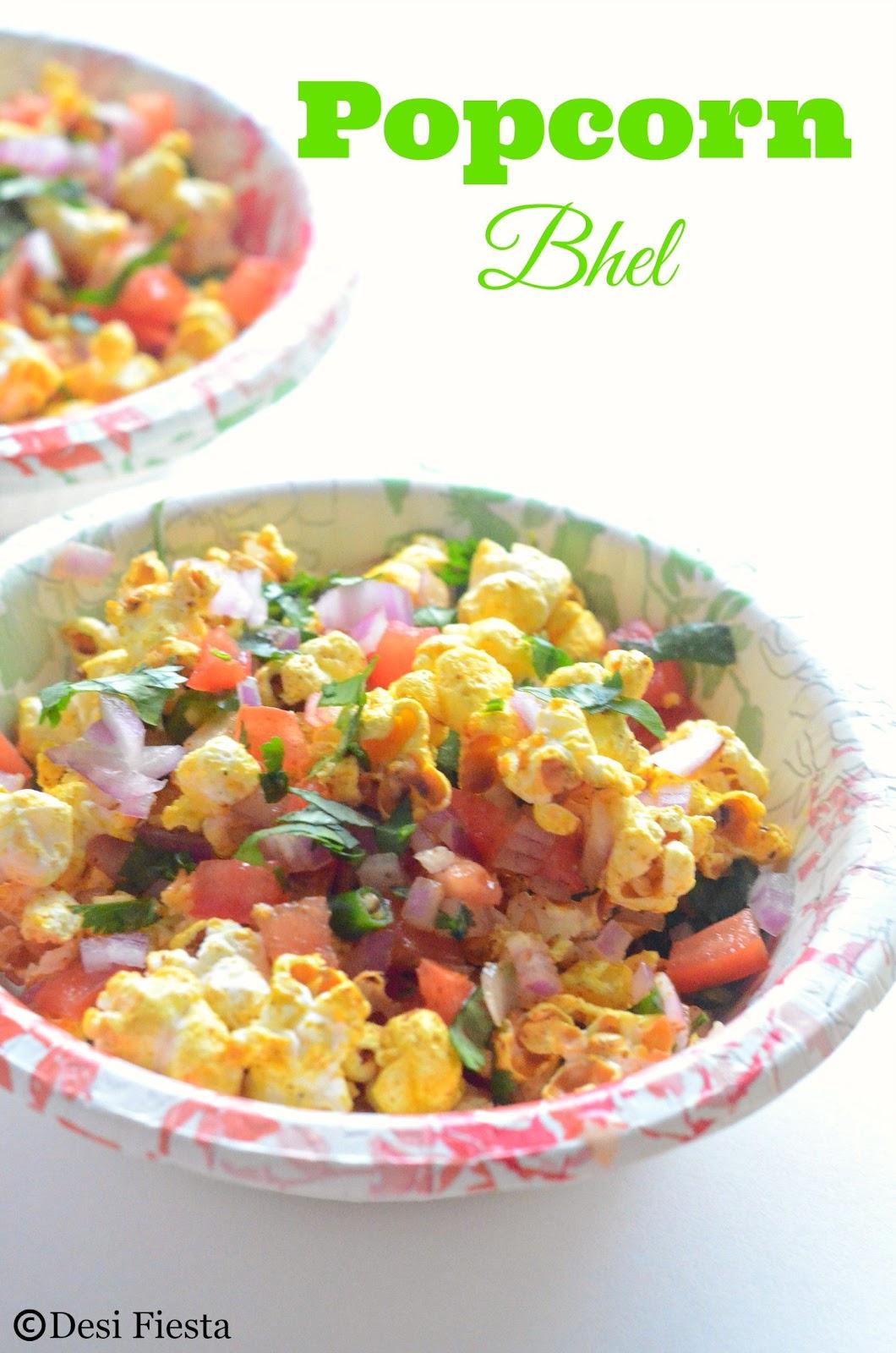 Popcorn chaat recipe