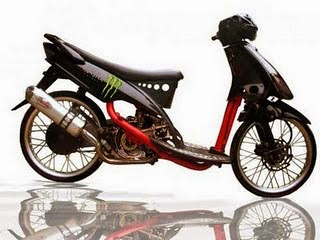 modifikasi mio sporty drag  paling bagus