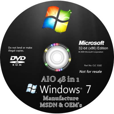 Windows 7 Ultimate (48-in-1) SP1 (x64 x 86)