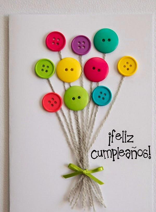C mo hacer una tarjeta de cumplea os con botones for Crear decoraciones para casa