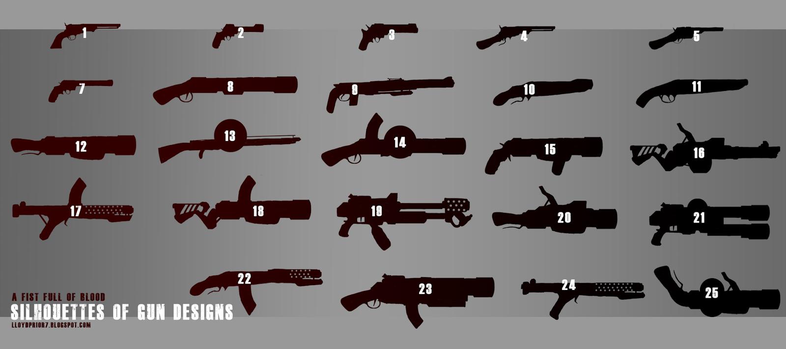 Futuristic Gun Drawings Few Futuristic Guns Mashed