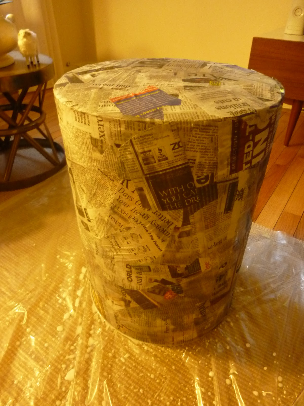 Amazing The Hardest Step: Wait. Seriously, Stop, And Let Your Papier Mache Tables  Dry Overnight.