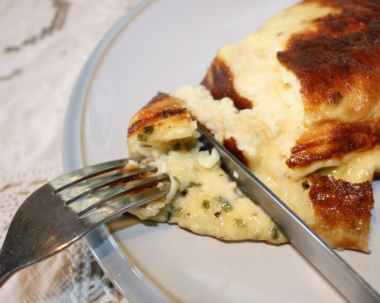Simple Pleasures - Cheese & Chive Omelette | Mezzamay