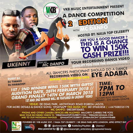 DANCING COMPETITION BY NAIJA TOP CELEBRITY