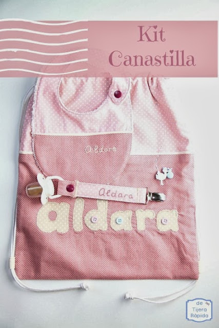 canastilla recien nacida en rosa