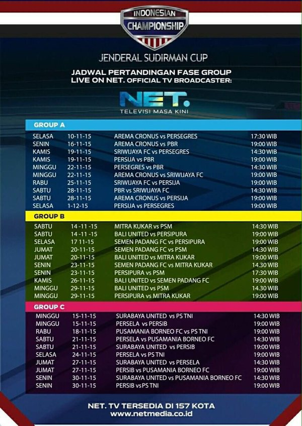 Jadwal Piala Sudirman Live NET TV