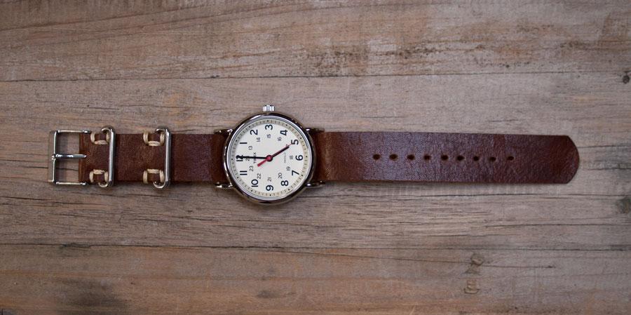 Como hacer pulseras de cuero para reloj