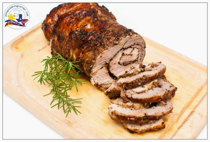 Pinay In Texas Cooking Corner Roast Balsamic Herb Rolled Pork Loin