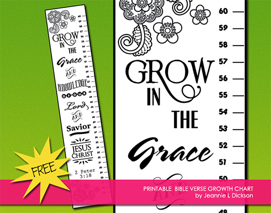 Creative Sunday School Crafts: Free Bible Verse Printable Growth Chart