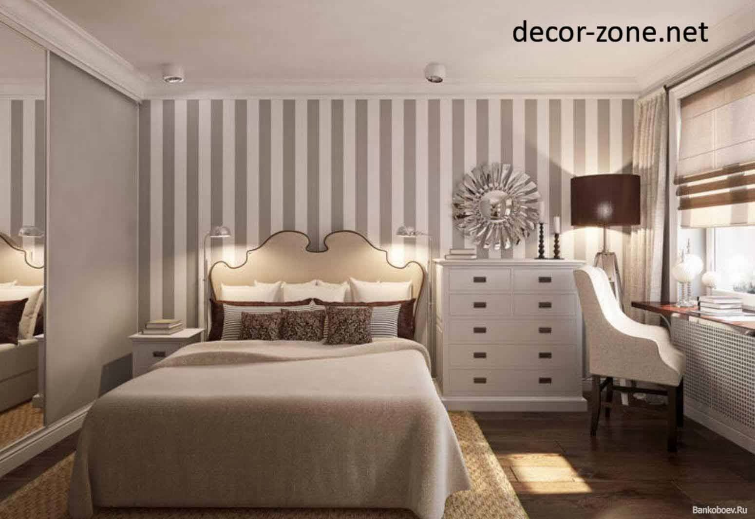 stripped bedroom wallpaper ideas, master bedroom wall decor