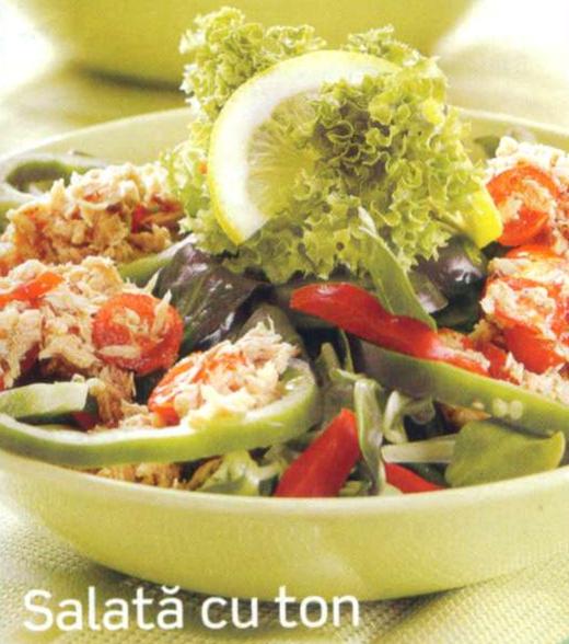 Reteta culinara pentru hipertensivi - Salata cu ton