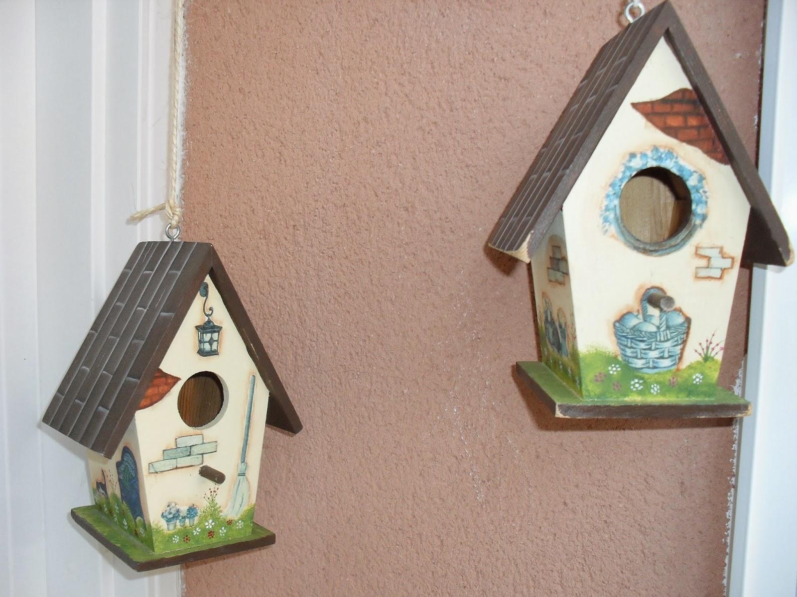Jo qu bonito casitas de pajaros - Cosas de madera para decorar ...