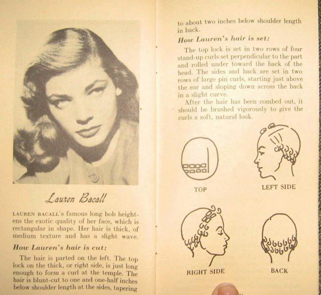 Gene Tierney pin curl srt set very reminiscent of dita von teese ...