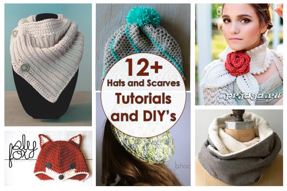 Рукодельный обзор, New Tutorials and DIY's to Try, handmade, своими руками, мастер классы, crochet, scarfs, hats, вязание, шарфик, шапка