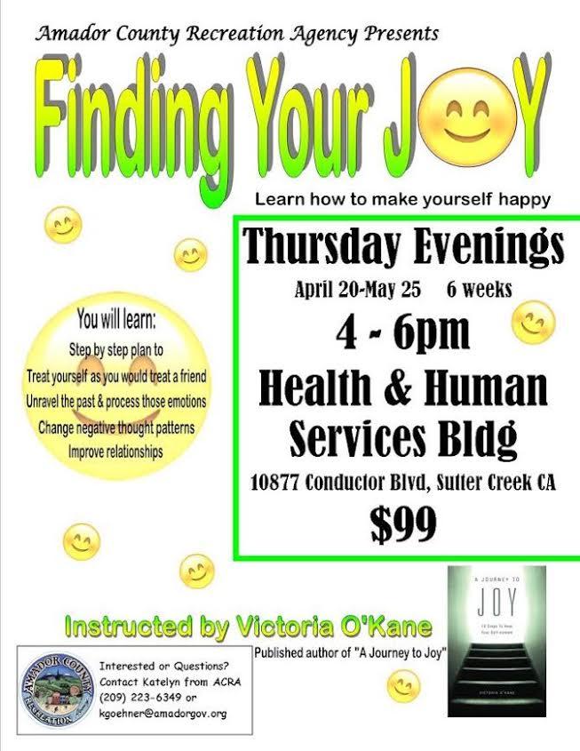 Finding Your Joy - Thurs, April 20 thru May 25