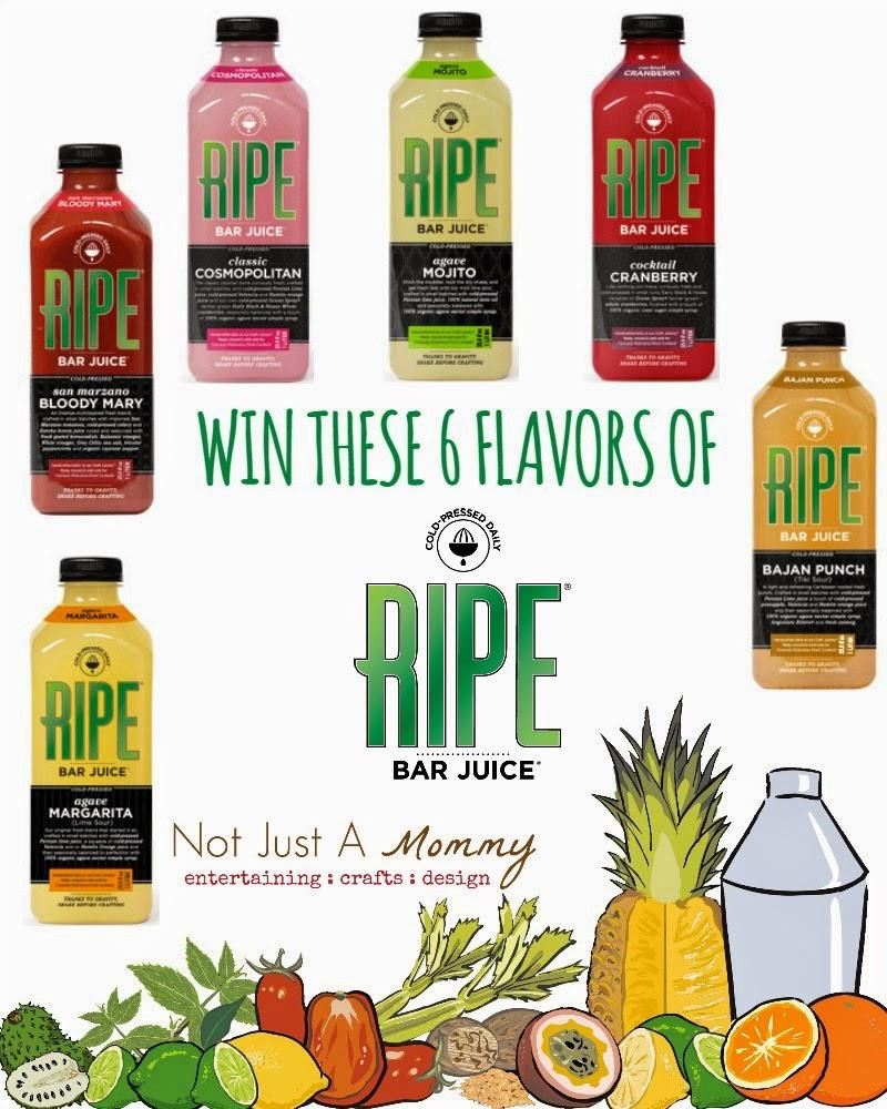 RIPE Bar Juice® Cocktail Juice giveaway; ends 2/18