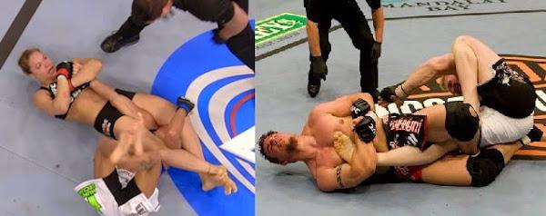 Ronda Rousey armbar, Frank Mir kneebar