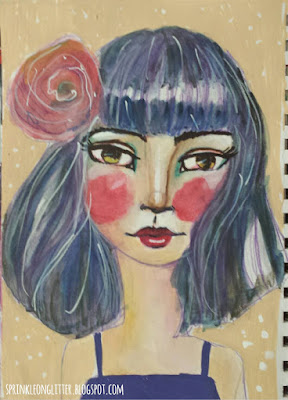 Drawing and Painting Beautiful Faces- Jane Davenport- watercolor friends 1