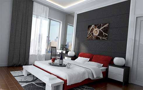 design: Idea for minimalist bedroom design in contemporary style