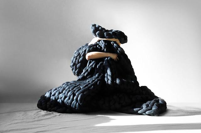Peças de tricô em tamanho grande por Anna Mo