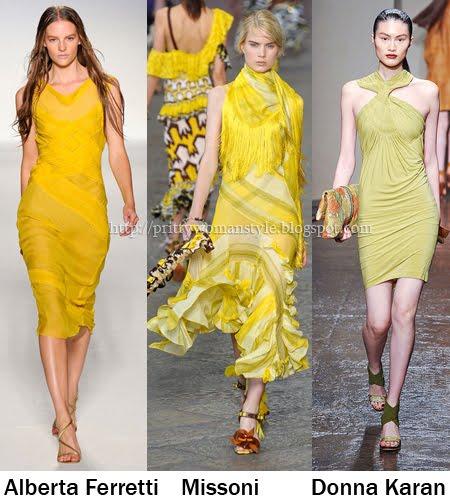Жълто тенденции Пролет/Лято 2012