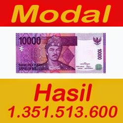 Modal 10rb Hasil 1.351.513.600