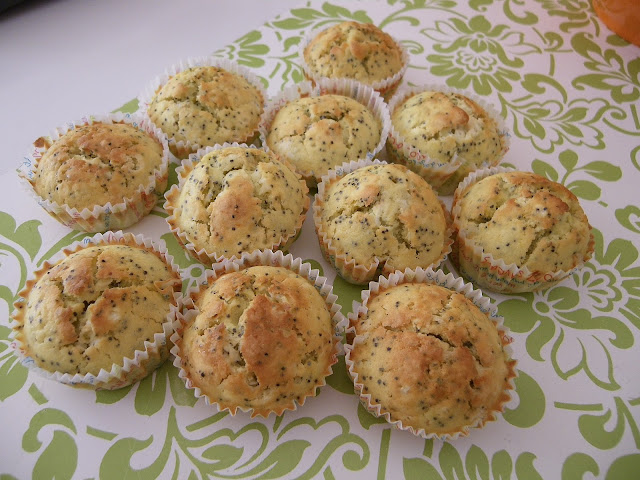 Muffins au citron et aux graines de pavot