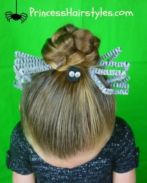 Halloween Spider Web Hairstyle