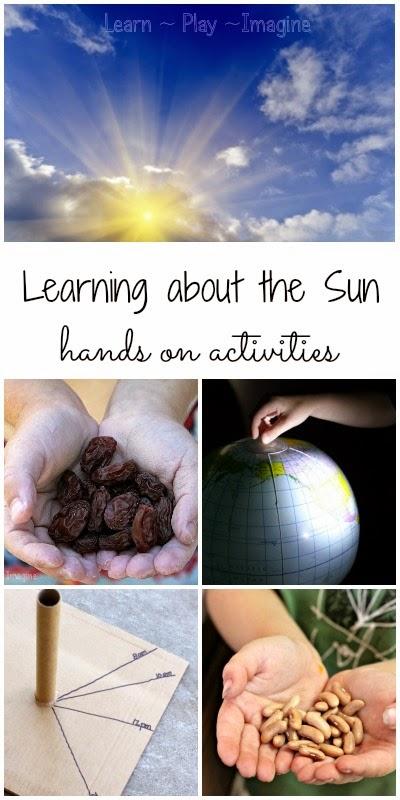 12 hands on activities to learn about the sun in preschool and kindergarten.