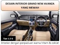interior grand new avanza 1,3 g 2015