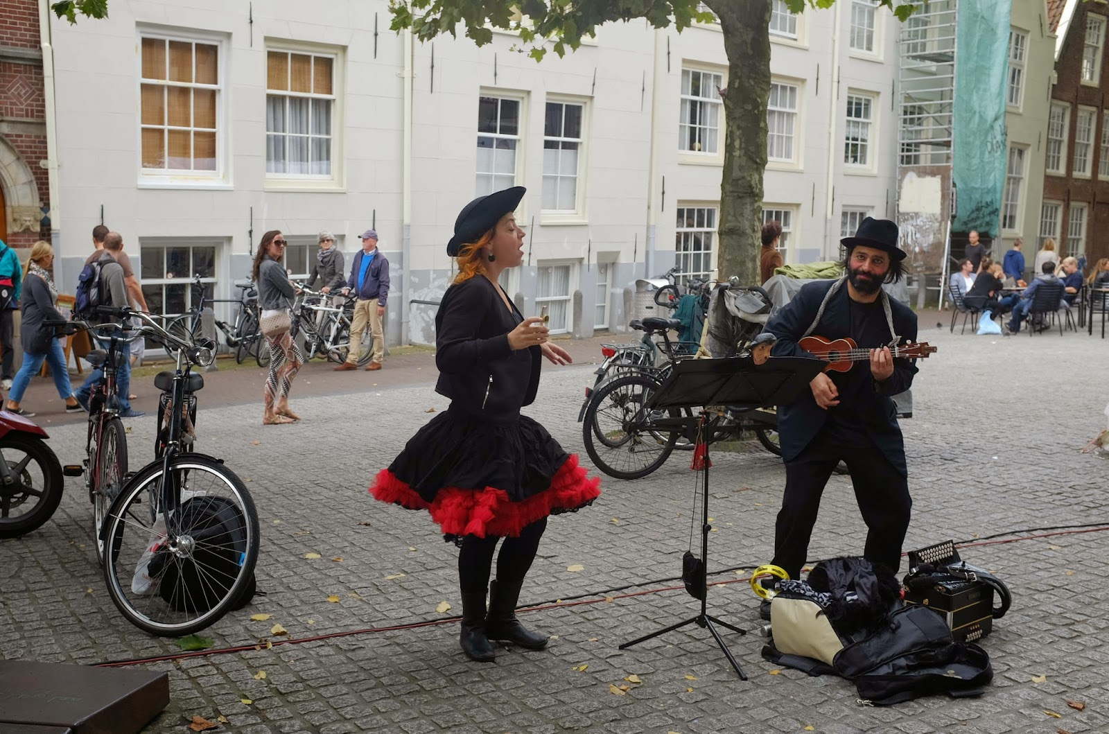 Amsterdam Netherlands Europe travel buskers
