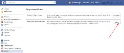Mematikan fitur putar video otomatis facebook